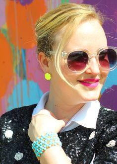 Kendra Scott Neon Yellow Studs Schiap Lip