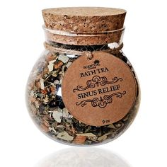 BATH TEA Organic Bath Tea Bath Teas Sinus Relief by ScentualAroma