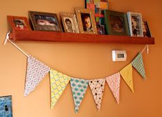 Cicada Daydream: Tutorial | How To Make Threaded Fabric Bunting