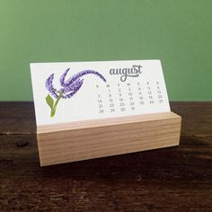 These mini desk calendars are just as cute as they are practical. Sized to a space-saving 3.5 wide, theyll fit neatly on your desk. These mini