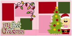 Scrapbook 2 Page Layout My First Christmas by StacysPhotoFrenzy