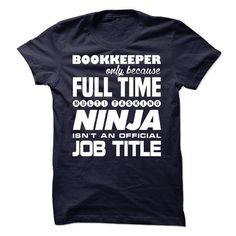 Cool and Awesome Bookkeeper Pullover - NINJA JOB TITLE Shirt Hoodie
