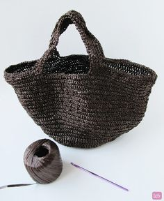 {Crochet Raffia Bag} FREE PATTERN