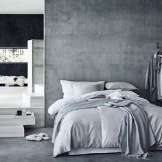 grey love 👆🏻stunning concrete bedroom leading to a gorrrgeous en suite via @hm_home 📷 enjoy your day! x __ follow @interior.hunter for more beautiful interior inspiration 👈🏻 __ #interior123 #interior125 #interior444 #interior4you #interior4all #interiorinspo #interiorinspiration #interiørmagasinet #interiorstyling #passion4interior #interior_and_living #interiorwarrior #interiorandhome #interior2you #nordicinspiration #nordichome #homedesign #homedeco #interiorforinspo #homeinterior…