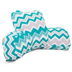 Aquamarine reading pillow.  Awesome design with brilliant colors.  #aquamarine #pillows  http://www.readingpillowsplus.com/products/reading-pillow-aquamarine-razzle-dazzle