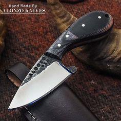 ALONZO KNIVES USA CUSTOM HANDMADE TACTICAL BUSHCRAFT 1095 KNIFE MICARTA 2033 #AlonzoKnives