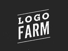 Dribbble - Logo Farm now live! by Erick Montes
