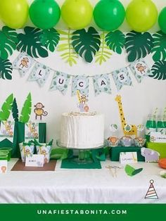 Kit imprimible Selva - kit imprimible selva fiesta imprimibles Source by Best Kadın Jungle Theme Birthday, Baby Boy 1st Birthday, Jungle Party, Dinosaur Birthday Party, Safari Party, Kids Party Themes, Birthday Party Decorations, Birthday Parties, Party Kit