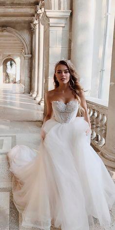 Princess Wedding Dresses For Fairy Tale Celebration ★ See more: https://weddingdressesguide.com/princess-wedding-dresses/ #bridalgown #weddingdress