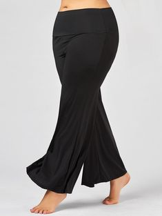 f2c23da244147 Plus Size Maxi High Rise Palazzo Pants - Black - 3xl Plus Size Pants