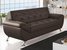 Sofá 3 Lugares Revestimento Suede Larissa Style - Linoforte