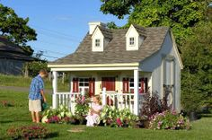11 x 8 Pennfield Cottage Panelized Kit by Little Cottage Co.. Save 25 Off!. $2781.01. 2 x 3 wood wall framing. 2 x 3 wood trusses 2 on center on 9 x 8. 2 x 4 wood trusses 2 on center on 11 x 8, 11 x 10, 11 x 12. 11 ft. x 8 ft.. Pennfield Cottage Kits are roughly 8' high. PENNFIELD COTTAGE PLAYHOUSE KIT INFORMATION  9'x 8' 11'x 8' 11'x 10' 11'x 12'  Pennfield Cottage Playhouse kits are roughly 8' high and come in four sizes.  STANDARD PENNFIELD COTTAGE PLAYHOUSE KIT INCLUDES TH...