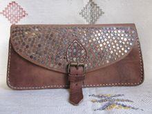 fantástico marroquíes hechos a mano de cuero de las señoras bolso de mano