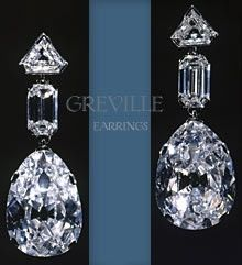The Greville Diamond Drops Earrings bequeathed to Queen Elizabeth, later The…