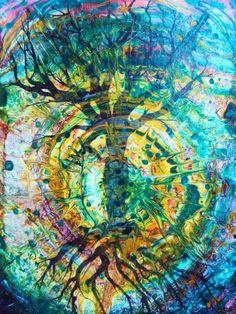 tie dye trees | tie dye tree