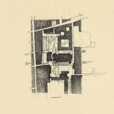 Figure / Ground of BMCA by Richard Meier.
