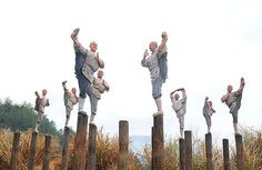 shaolin monks training- the art of balance