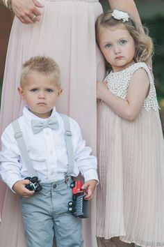 Affordable ring bearer outfit: pants and shirt: Target, suspenders and bow tie: Etsy