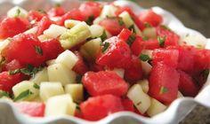 Watermelon Cucumber Salad by P. Allen Smith #yum