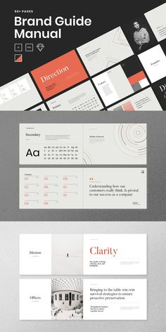 A Brand Guide – Branding Guidelines - corporate branding design Brand Guidelines Design, Brand Guidelines Template, Brand Identity Design, Branding Design, Logo Design, Graphic Design, Brand Manual, Corporate Branding, Identity Branding