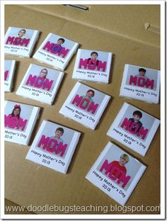 Mom magnets for a Mother's Day project