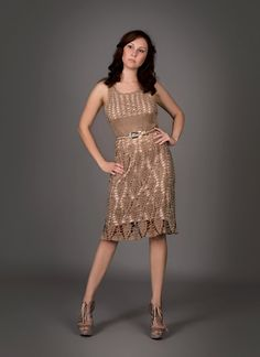 This dress was crocheted by hand! Totally amazing! Mocca exclusive crochet dress. via Etsy.