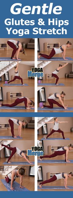 Take a quick preview of Kim's Gentle Glutes & Hips Yoga Stretch! This yoga video will help you practice poses to stretch and flex the glutes and hips! Full preview on our site! Online yoga videos for your home yoga practice!