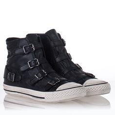 Womens Virgin Sneaker Black Nappa Leather 312182