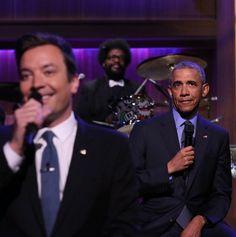 Obama having fun