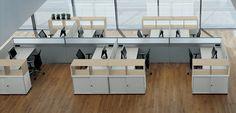 Postazione di lavoro multipla moderna per open-space Bene