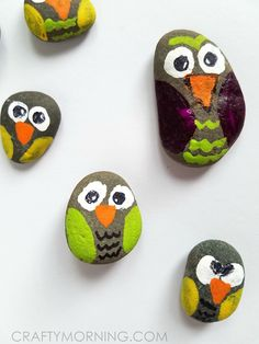 Rock Owls (Craft for Kids) - Crafty Morning