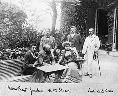 """""""Marcel et ses amis"""" Photographs of Proust, family and friends. From a French blog. (http://proust-personnages.fr/?page_id=5826)"""
