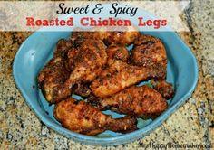 Sweet & Spicy Roasted Chicken Legs - Mrs Happy Homemaker