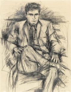 Robert Mallary By Elaine de Kooning Life Drawing, Figure Drawing, Painting & Drawing, Elaine De Kooning, Willem De Kooning, Mark Making, Abstract Expressionism, New Art, Masters