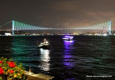 Night view of the FSM bridge over the Bosphorus in #Istanbul.