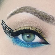 """""""Here's an everyday wing liner look for ya.. lol jk.. I wanted to do a creative look inspired by my mom. It's her birthday today and she's celebrating in…"""""""