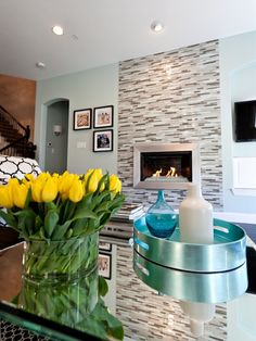 tiled to the ceiling: Tiled Fireplace Built In Design, Pictures, Remodel, Decor and Ideas - page 2