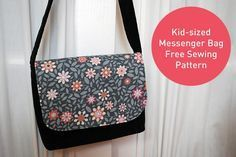 Kid-sized Messenger Bag Free Pattern and Sewing Tutorial. It's an easy sewing project for beginners and makes a great DIY gift for kids!