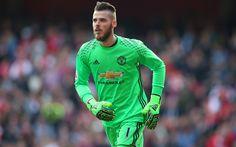 Download wallpapers David de Gea, 4K, Spanish goalkeeper, football, Manchester United, England, Premier League
