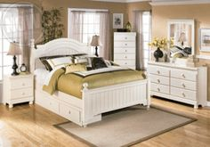 Cottage Retreat Youth Poster Storage Bedroom Set - Louisville Overstock Warehouse