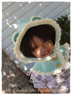 My Crochet , Mis Tejidos: Hoodie for a Toddler / capucha para un niño-a pequ...