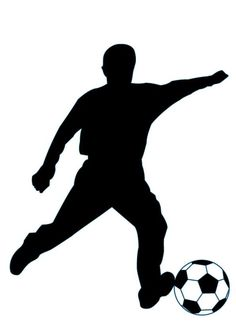 Soccer Silhouette - 49 : Custom Wall Decals, Wall Decal Art, and Wall Decal Murals | WallMonkeys.com
