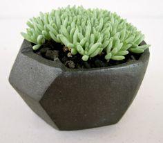 Jonathan Cross -- black geometric planter