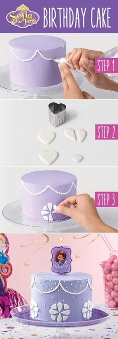 Make a Sofia the First birthday cake with @partycity                                                                                                                                                                                 Más