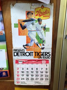 1972 Detroit Tigers Schedule & Calendar. Dunno as they ever had the RWB trim though...
