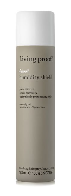 No Frizz Humidity Shield weightlessly blocks 100% humidity to prevent and correct the first signs of frizz.