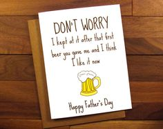 Father's Day Card  Beer Fathers Day Card  by ThePaintedKitchen
