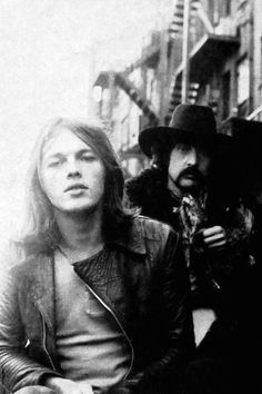 David Gilmour and Nick Mason