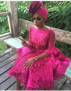 Latest Sequins African Lace Fabric 2017 Flowers Embroidery Lace High Quality Nigerian Lace For Royale Blue Wedding Lace Nigerian Lace Styles, African Lace Styles, African Lace Dresses, African Dresses For Women, African Attire, African Fashion Dresses, African Women, Nigerian Fashion, Ghanaian Fashion