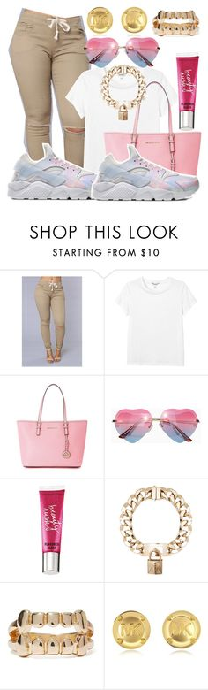 """Survivor- Destiny's child"" by jayzhee ❤ liked on Polyvore featuring Monki, NIKE, Michael Kors, Beauty Rush and Givenchy"